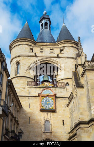 Bordeaux, Gironde Department, Aquitaine, France.  Porte de la Grosse Cloche. The historic centre of Bordeaux is a UNESCO World Heritage Site. - Stock Photo