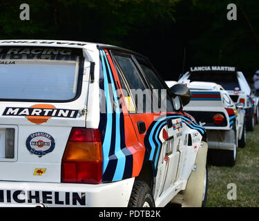 Stefano Macaluso, Monica Macaluso, Lancia Delta HF Integrale, Ultimate rally cars, Festival of Speed - The Silver Jubilee, Goodwood Festival of Speed, - Stock Photo