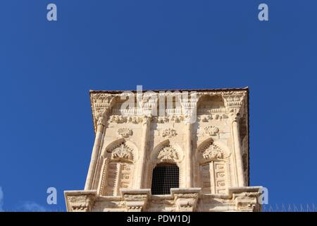 Detail of the bell tower of the medieval church of St Lazarus in Larnaca, Cyprus. - Stock Photo