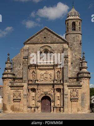 Ubeda, Sacra Capilla del Salvador. Renaissancefassade. Die Renaissancestadt Ubeda ist Unesco Welterbe. - Stock Photo