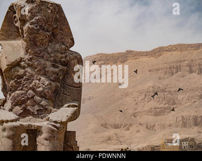 Reconstructed Sphinx statue in Luxor - Stock Photo