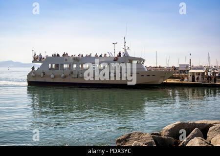 SANTA MARGHERITA LIGURE, ITALY:  Ferry Boat at the Ferry Terminal - Stock Photo