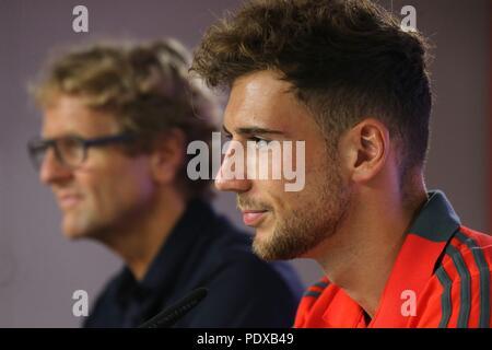 firo: 02.08.2018, Fuvuball, 1.Bundesliga, season 2018/2019, Official presentation Leon Goretzka, Leon Goretzka (FC Bayern) | usage worldwide - Stock Photo