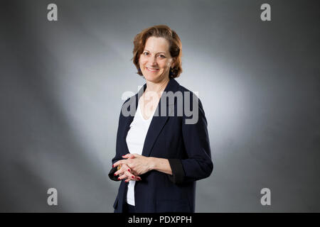 Edinburgh, UK. 11th August, 2018. Anne Applebaum, the American born Polish journalist and Pulitzer Prize-winning author, pictured at the Edinburgh International Book Festival. Edinburgh, Scotland.  Picture by Gary Doak / Alamy Live News - Stock Photo