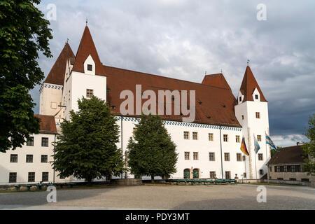 Neues Schloss castle, Ingolstadt, Upper Bavaria, Bavaria, Germany - Stock Photo