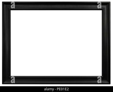 Eleganter und schicker Bilderrahmen in schwarz, im Querformat Stock Photo