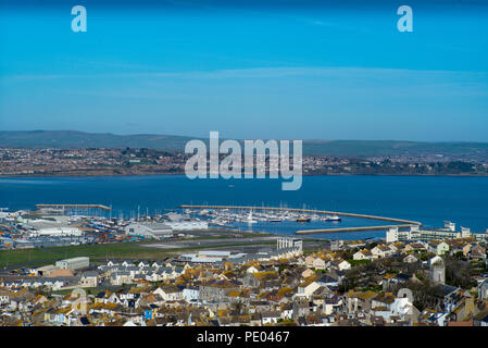 Weymouth, Dorset, United Kingdom, Monday,  13th March 2017, General View, Portland Harbour Bay and Marina, © Peter SPURRIER - Stock Photo