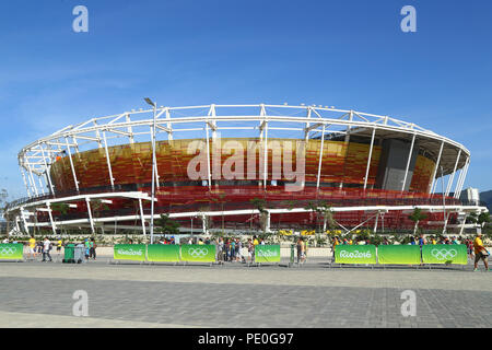 Main tennis venue Maria Esther Bueno Court of the Rio 2016 Olympic Games at the Olympic Tennis Centre - Stock Photo