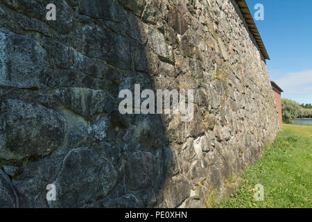 Medieval Häme castle surroundings in Hämeenlinna Finland - Stock Photo