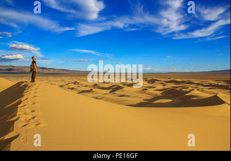 Gobi Desert, Mongolia - one of the largest deserts in the World, with hot Summers and freezing Winters, the Gobi Desert offers different landscapes - Stock Photo