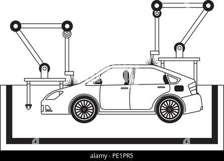 car assembling machine icon - Stock Photo