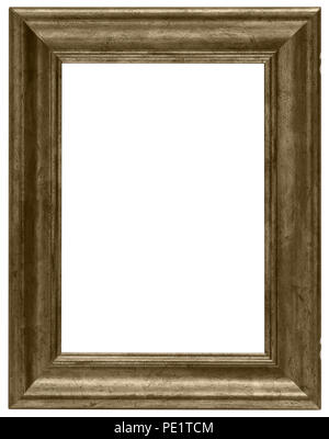 Goldener Bilderrahmen mit tollem Profil und brauner Struktur für elegante Gutscheine oder als prächtige Umrandung von Bildern - Stock Photo