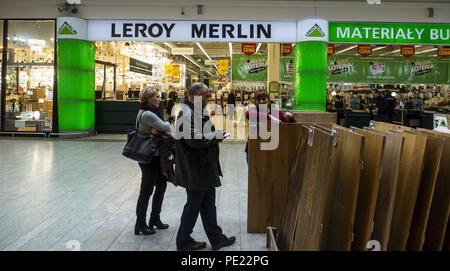 Poland Krakow March 20 2018 Leroy Merlin Store In Bonarka City Center Stock Photo Alamy