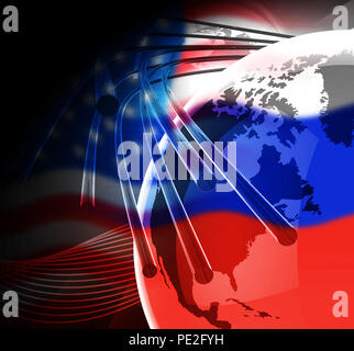 Russia Hacking American Elections Data 3d Illustration Shows Kremlin Spy Hackers On Internet Attack Usa Election Security Or Cybersecurity - Stock Photo