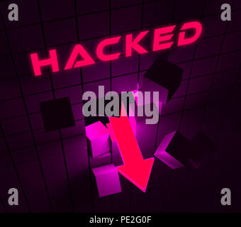 Cybersecurity Hacker Online Cyber Attacks 3d Illustration Shows Digital Spying And Breach Security For Internet Protection Against Web Hacking - Stock Photo