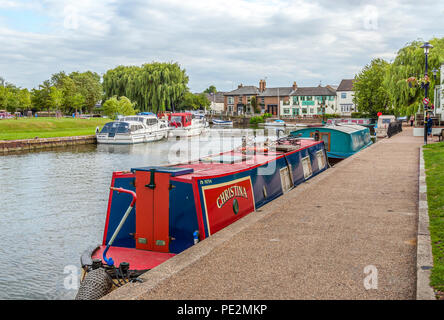 Ely is a cathedral city in Cambridgeshire, England with many historic buildings and winding shopping streets. - Stock Photo