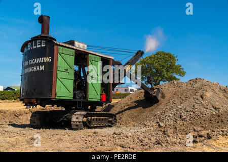 Erie 1915 A type Steam Shovels. Welland Steam Rally Worcestershire UK. July 2018 - Stock Photo