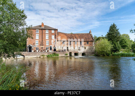 The Old Mill Hotel public house and restaurant in Harnham near Salisbury Wiltshire UK - Stock Photo