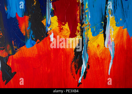 Abstract art background. Oil painting on canvas. Multicolored bright texture. Fragment of artwork. Brushstrokes of paint. Modern art. - Stock Photo