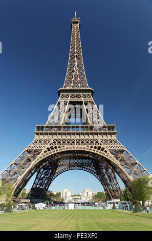 The Eiffel Tower shot from different locations and angles with close ups and long shots, Paris, France. - Stock Photo