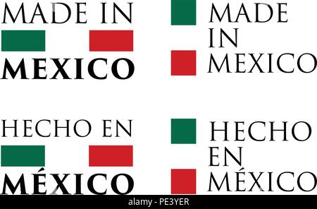 Simple Made In Mexico Spanish Translation 3d Button Sign