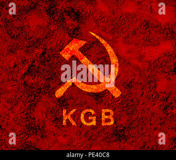 USSR symbol KGB - Stock Photo