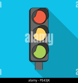 Traffic light for vehicles.Car single icon in flat style vector symbol stock illustration . - Stock Photo