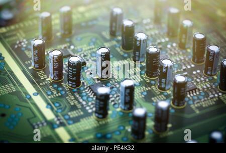 circuit board closeup - Stock Photo