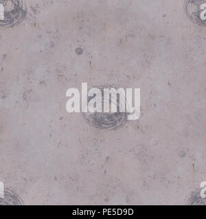 seamless pale marble texture with gray circles. background, decoration. - Stock Photo