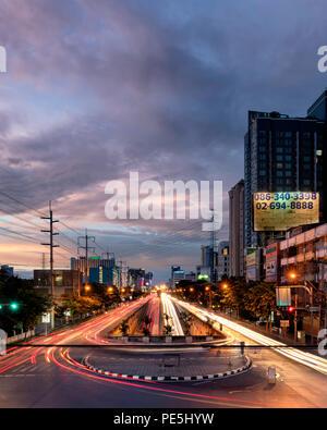 Bangkok Light Trails - Stock Photo