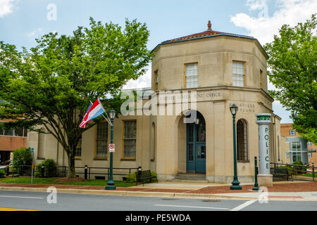 Rockville City Police Department, Old Rockville Post Office, 2 West Montgomery Avenue, Rockville, Maryland - Stock Photo