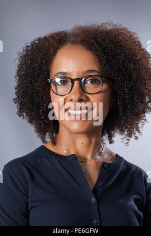Edinburgh, UK. 13th August, 2018. Diana Evans, the British novelist, pictured at the Edinburgh International Book Festival. Edinburgh, Scotland.  Picture by Gary Doak / Alamy Live News - Stock Photo