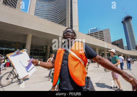 AUGUST 11, 2018 - TORONTO, CANADA: 'STOP THE HATE' ANTI RACISM RALLY. - Stock Photo