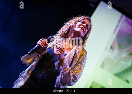 Bergamo, Italy. 23st July 2017. Italian singer Irene Grandi performs at the Rock sul Serio festival. Brambilla Simone Photography Live News - Stock Photo