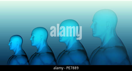 3D rendering of Human head - Stock Photo