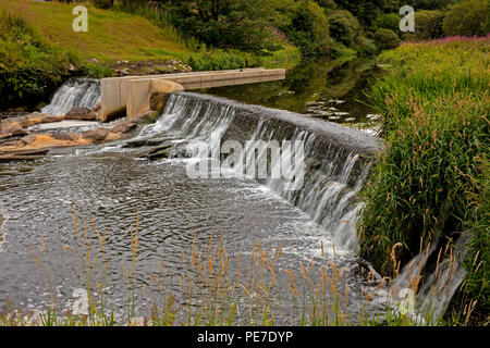 Kirkton Weir, Kirkton,  Calderwood Country Park, Livingston, West Lothian, Scotland, UK - Stock Photo