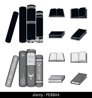 Various kinds of books. Books set collection icons in black,monochrom style vector symbol stock illustration . - Stock Photo