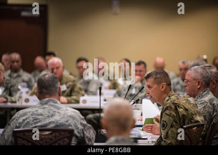 Army Lt. Gen. Daniel Hokanson, deputy commander, U.S. Northern Command, is at the National Guard Bureau Senior Leadership Conference, in Colorado Springs, Colo., Oct. 27, 2015. (U.S. Army National Guard photo by Staff Sgt. Adam Fischman) (Released) - Stock Photo
