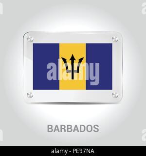 Barbados flag design vector - Stock Photo