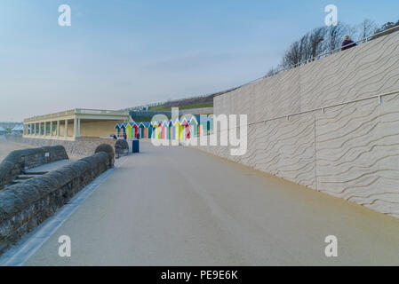 The newly renovated promenade at Barry Island. PHILLIP ROBERTS - Stock Photo
