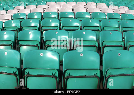 General view of empty seats at the ground ahead of Surrey CCC vs Middlesex CCC, Friendly Match Cricket at the Kia Oval on 22nd March 2016 - Stock Photo