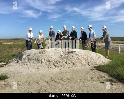 Federal, state and local officials celebrated the start of a major construction contract for the reservoir component of the C-44 Reservoir and Stormwater Treatment Area project Nov. 20, 2015, a critical restoration project to restore America's Everglades. - Stock Photo