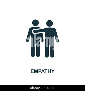 Empathy creative icon. Simple element illustration. Empathy concept symbol design from soft skills collection. Can be used for mobile and web design,  - Stock Photo