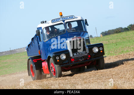 A 1966 Scammell Highwayman arriving at a Classic Car Show & Ploughing Match at Ainderby,North Yorkshire - Stock Photo