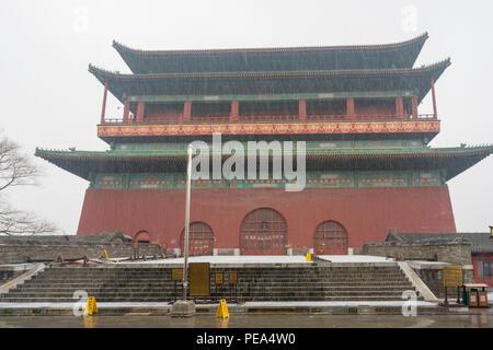 View of Drum Tower in Beijing - Stock Photo