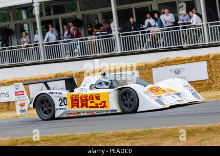 1992 Lola-Judd T92/10 Group C racer with driver Peter Garrod at the 2018 Goodwood Festival of Speed, Sussex, UK. - Stock Photo