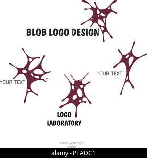 Human brain - vector logo template concept illustration. Neuro labaratory Geometric mind structure sign. Creative idea symbol. Design element. - Stock Photo