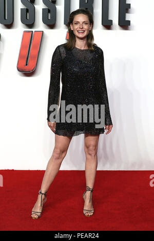 The UK Premiere of 'Mission: Impossible – Fallout' held at the BFI IMAX - Arrivals  Featuring: Rebecca Ferguson Where: London, United Kingdom When: 13 Jul 2018 Credit: Mario Mitsis/WENN.com - Stock Photo