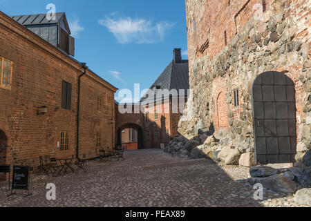 Medieval Häme castle surroundigs in Hämeenlinna Finland - Stock Photo