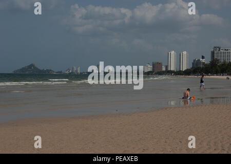 The beach, Hua Hin, Thailand - Stock Photo